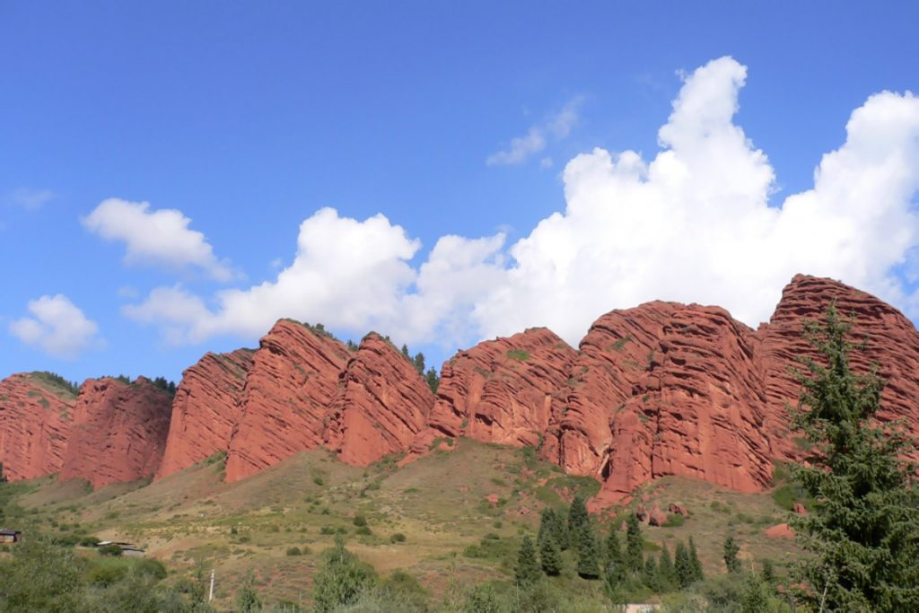 Red Mountain in Kyrgyzstan